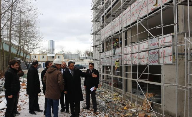 Kaymakam Suat Dervişoğlu, Okul İnşaatlarını Denetledi